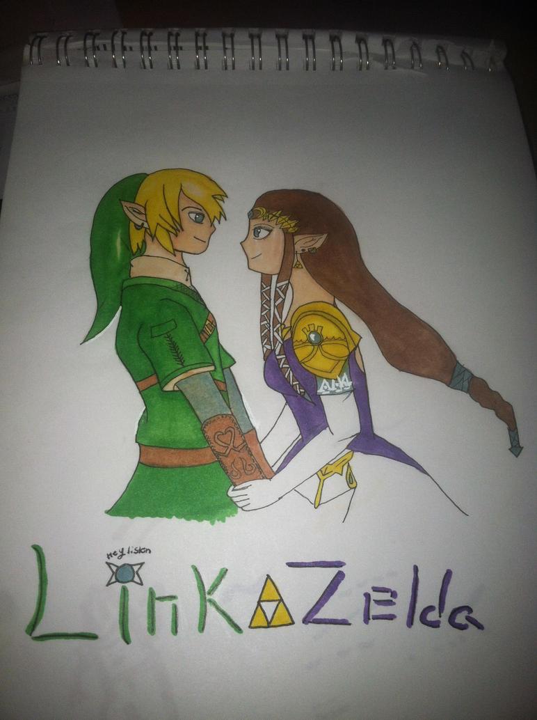 Link x Zelda by spamano12
