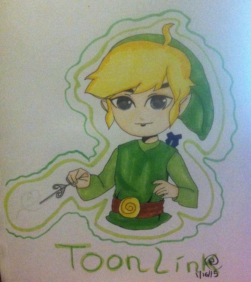Toon Link (art trade) by RoboticSkittles