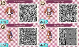 Animal Crossing NL: Survey Corps' Uniform QR Codes