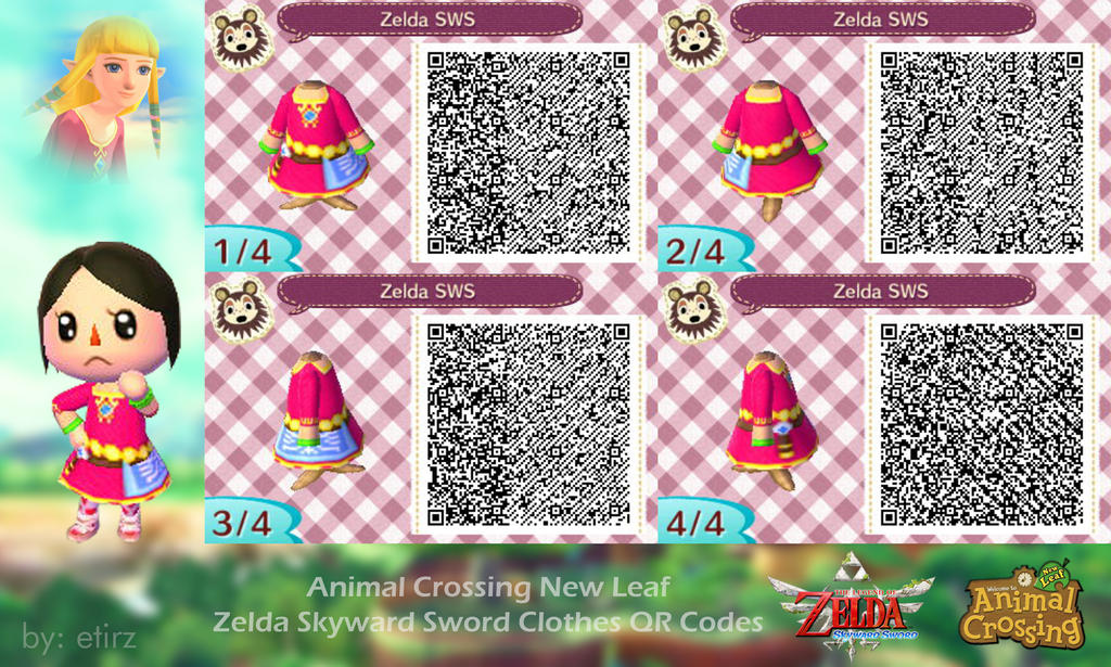 Animal Crossing NL: Zelda Skyward Sword QR Codes by etirz ...