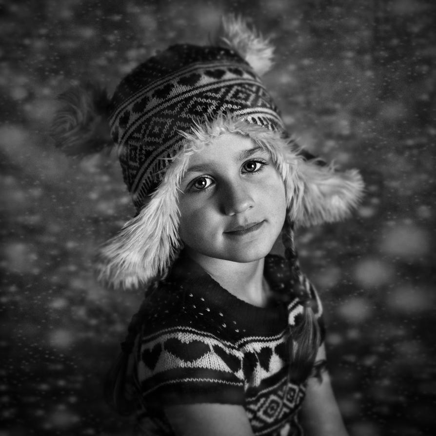 winter girl by monikha