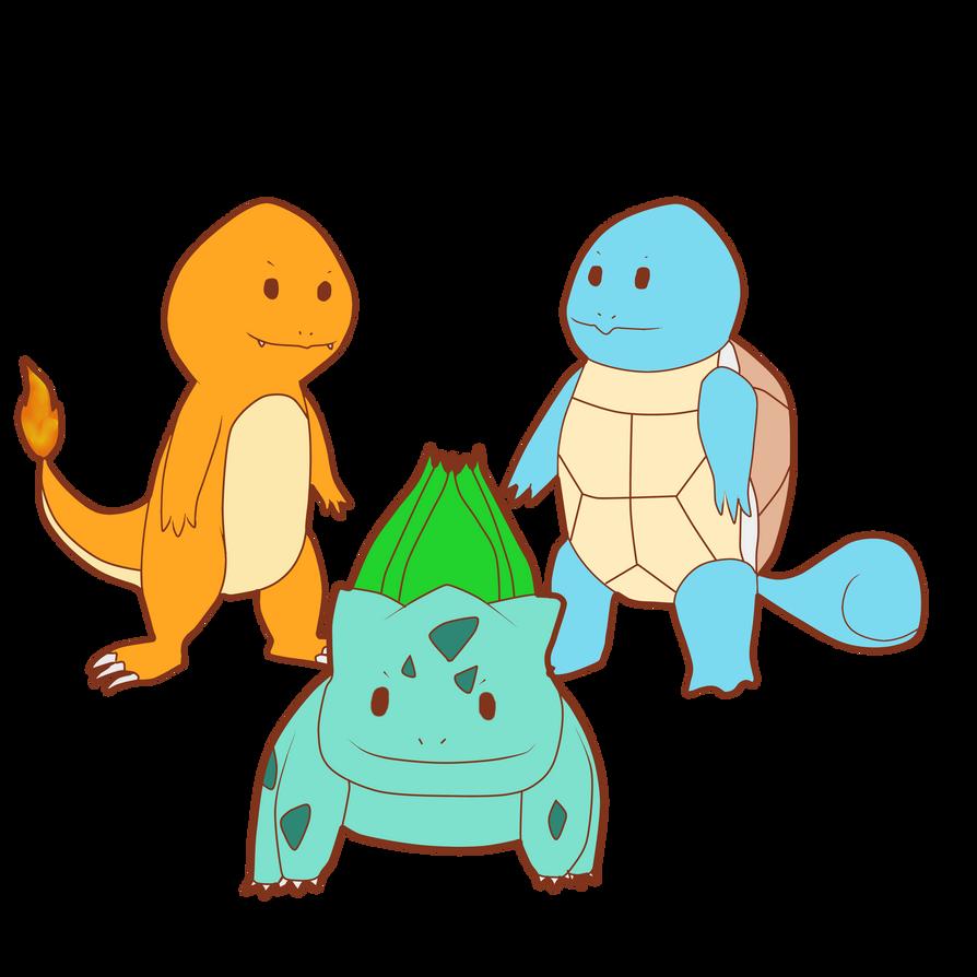 Starter pokemon First Gen by ElodieTheFox051400