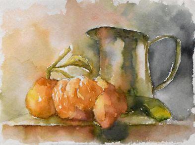 still life watercolor painting