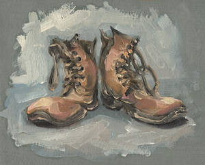 Shoes, oil painting