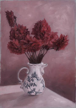 Flowers still life, oil painting