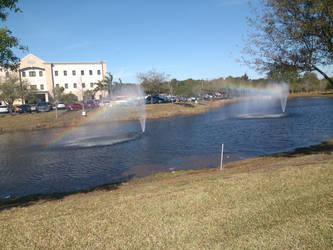 Rainbow Fountain by SportsLunatic