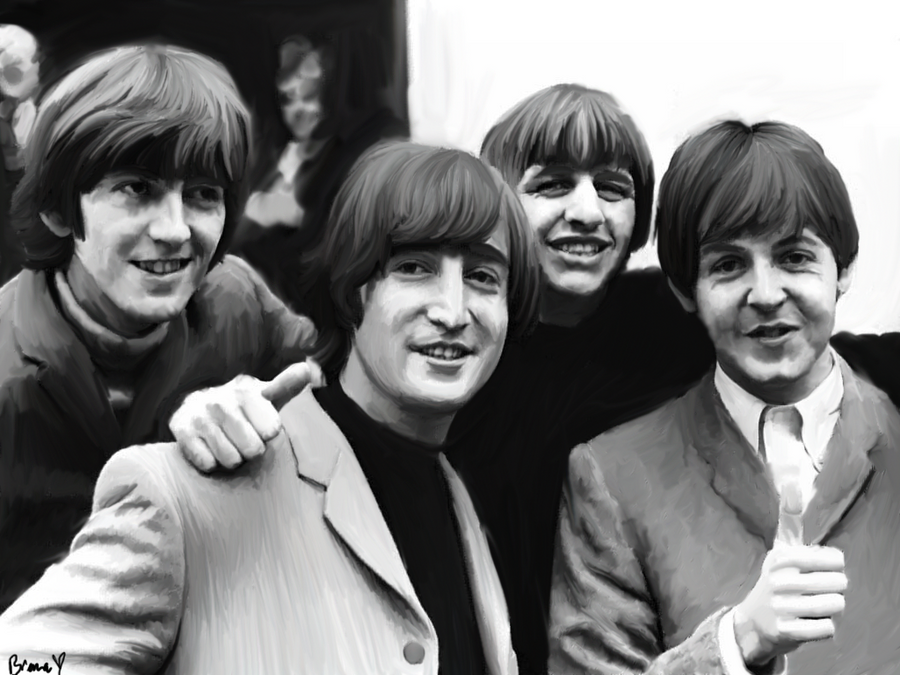 Beatles in black and white by brenners on deviantart