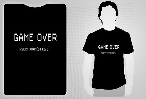 Game Over shirt design by pushav