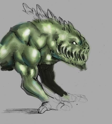 Monster Dog Drawing