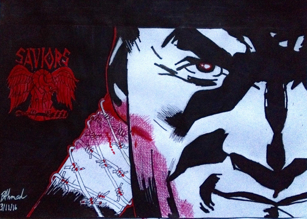 Negan by Drakon-Art