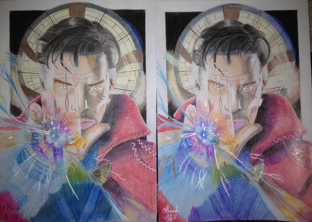 Doctor Strange Before And After by Drakon-Art