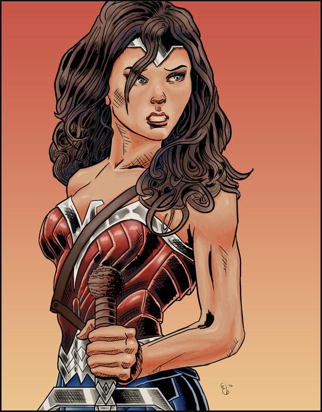 Wonder Woman (color version) by ElieBongrand