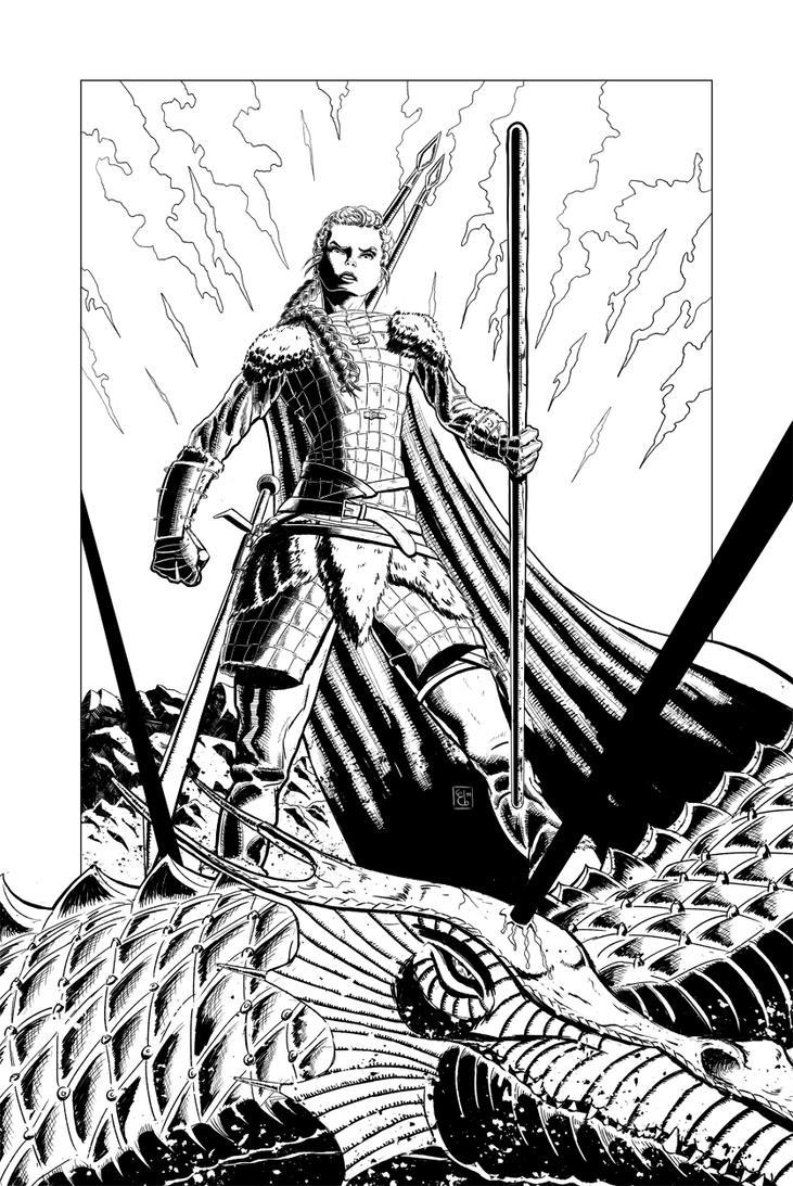 Svala, Spearwoman by ElieBongrand