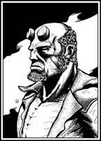 Hellboy portrait by ElieBongrand