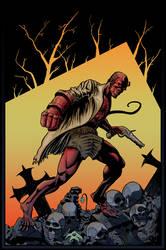 Hellboy (color version) by ElieBongrand