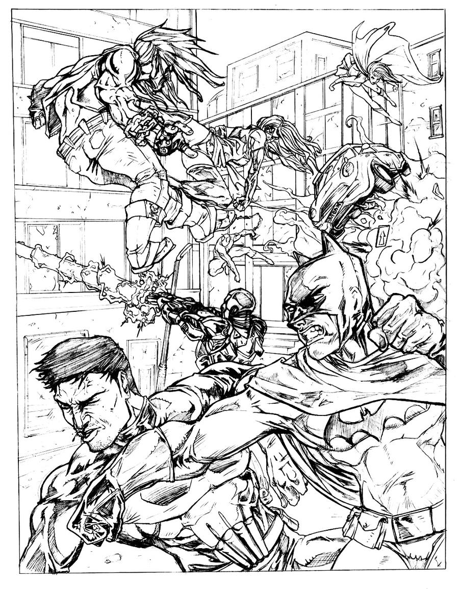 dc comics hard coloring pages - photo#20