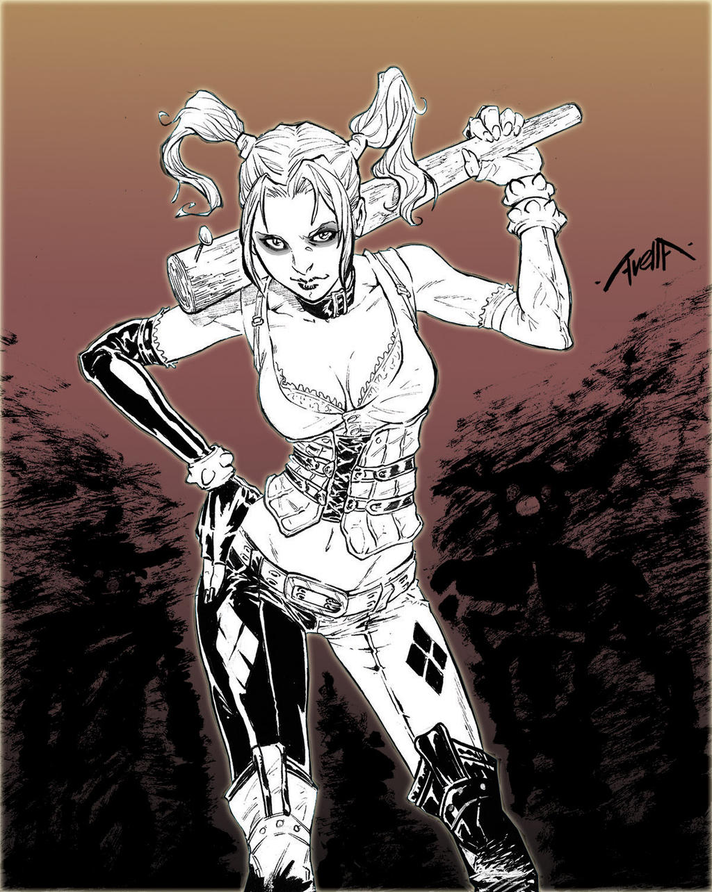 Harley Quinn by StarExtinction