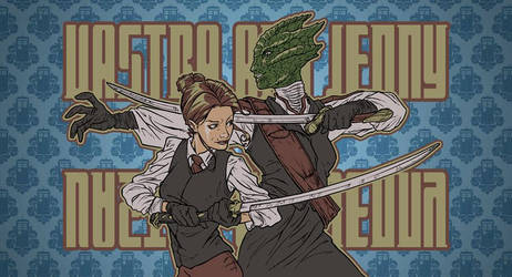 Madame Vastra and Jenny by StarExtinction