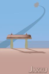 Jakku - Star Wars travel poster