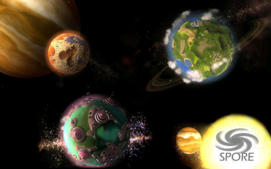 SPORE Planets Wallpaper by MC2009