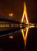 Blue LED Bridge by zdzichu