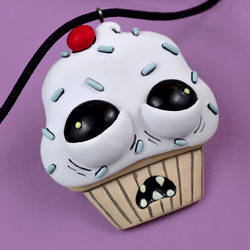 Ugly Cupcake Necklace