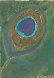 Peacock on Canvas by ravenkanzaki