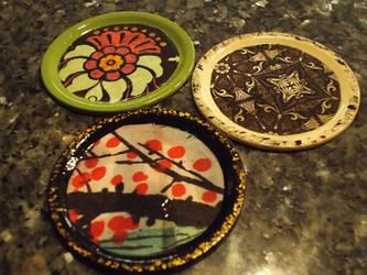 Coasters by ravenkanzaki