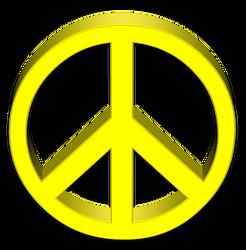 Peace Symbol 3D Render