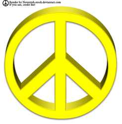 Peace Symbol 3D Render by Neveryph-stock