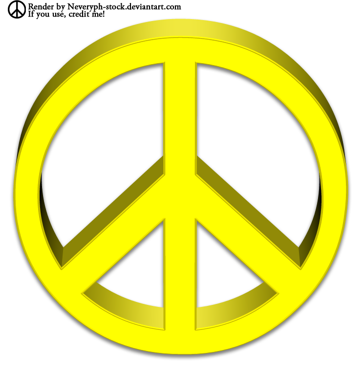 Peace Symbol 3d Render By Neveryph Stock On Deviantart