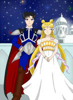 Princess Serenity and Prince Endymion by Yoshica