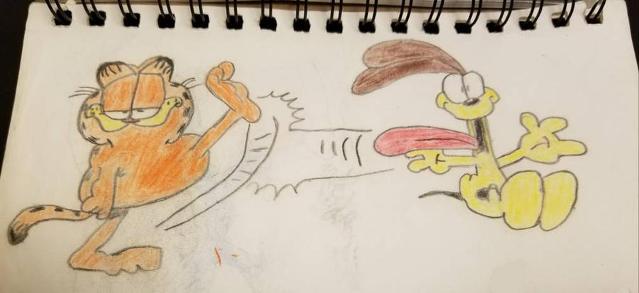 Garfield and Odie by equalizedesignz