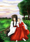 Una tarde juntos Inuyasha y  Kikyo by KarinaAvitia