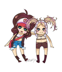 R: Hilda and Lissa for SonicAndTouko4ever by MiruKami