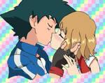 Ash and Serena Amourshipping Pokemon XY