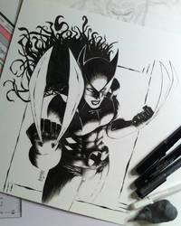 Inktober X-23 a.k.a Wolverine by bamf27art