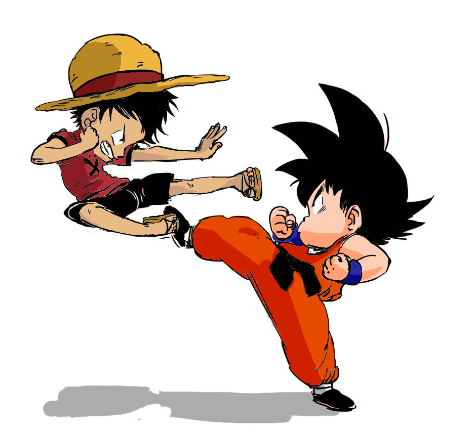 Luffy Vs Goku Colored By Evanest On DeviantArt