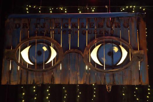 The Great Gatsby: TJ Eckleburg Billboard (Closeup)