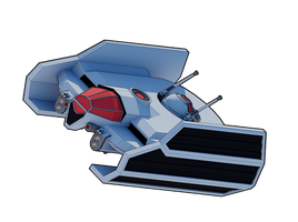 Retribution-Class Escort Fighter by Myriagonic