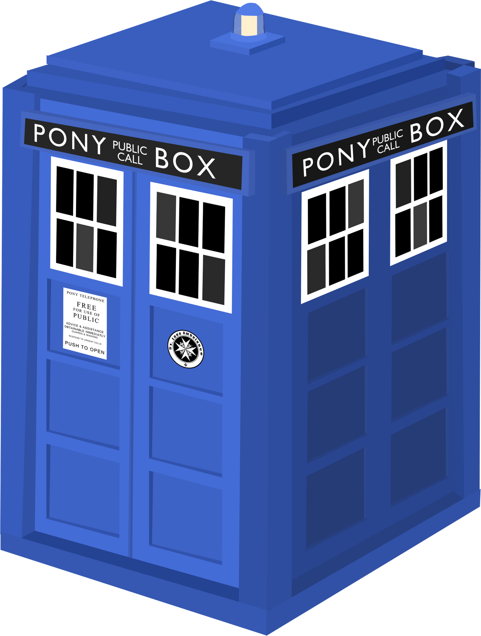 Doctor Whooves' Tardis Vector