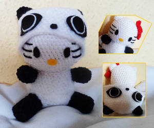Amigurumi Hello Kitty Panda by seth-anubis