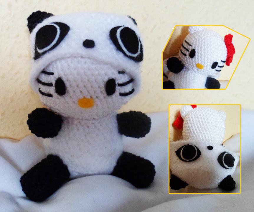 Amigurumi Hello Kitty Panda by