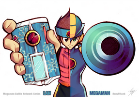 Lan and Megaman by RomAttack