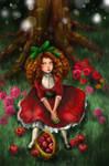 red apple girl