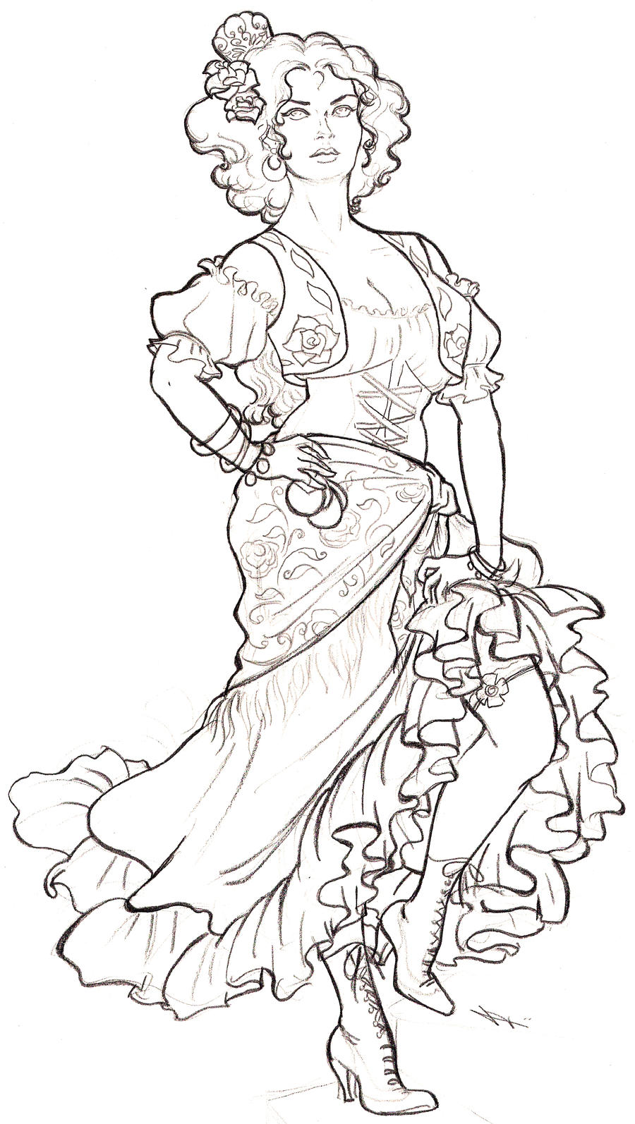 spanish dancer coloring pages - photo#2