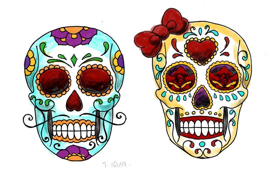 Sugar Candy Skull Tattoos