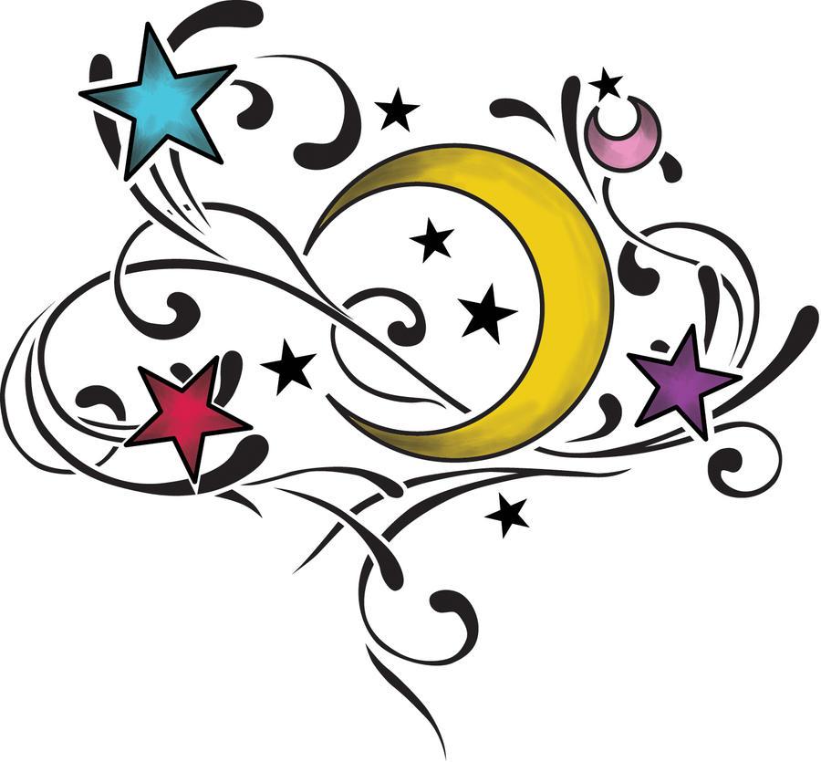 Moon stars tattoo by smarelda on deviantart for Moon and stars tattoo