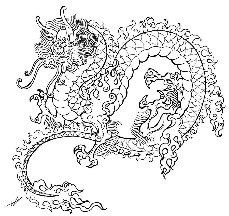 Dragon Tattoo Sketch By Smarelda On DeviantArt