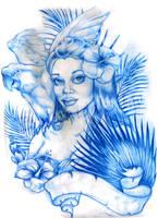 T-shirt sketch  TIKI GIRL by smarelda